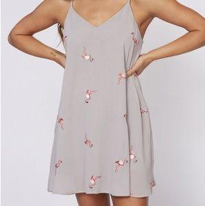 Peach Love Flamingo Dress